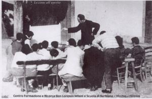 Lorenzo Milani cos alumnos de Barbiana